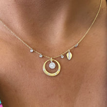 Load image into Gallery viewer, Open Circle Diamond and 14k Gold Necklace