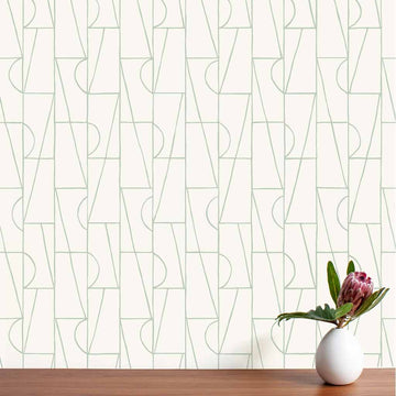 Habita wallpaper - Copa pattern in Agave