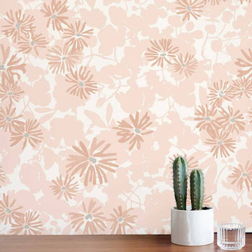 Habita wallpaper - Nimi pattern - Blush color