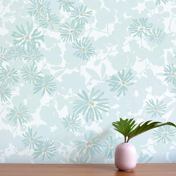 Habita wallpaper - Nimi pattern - Pool color
