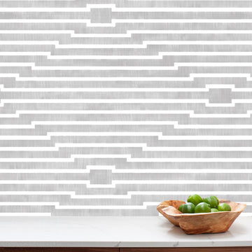 Habita modern wallpaper - Rincon pattern - Mineral color