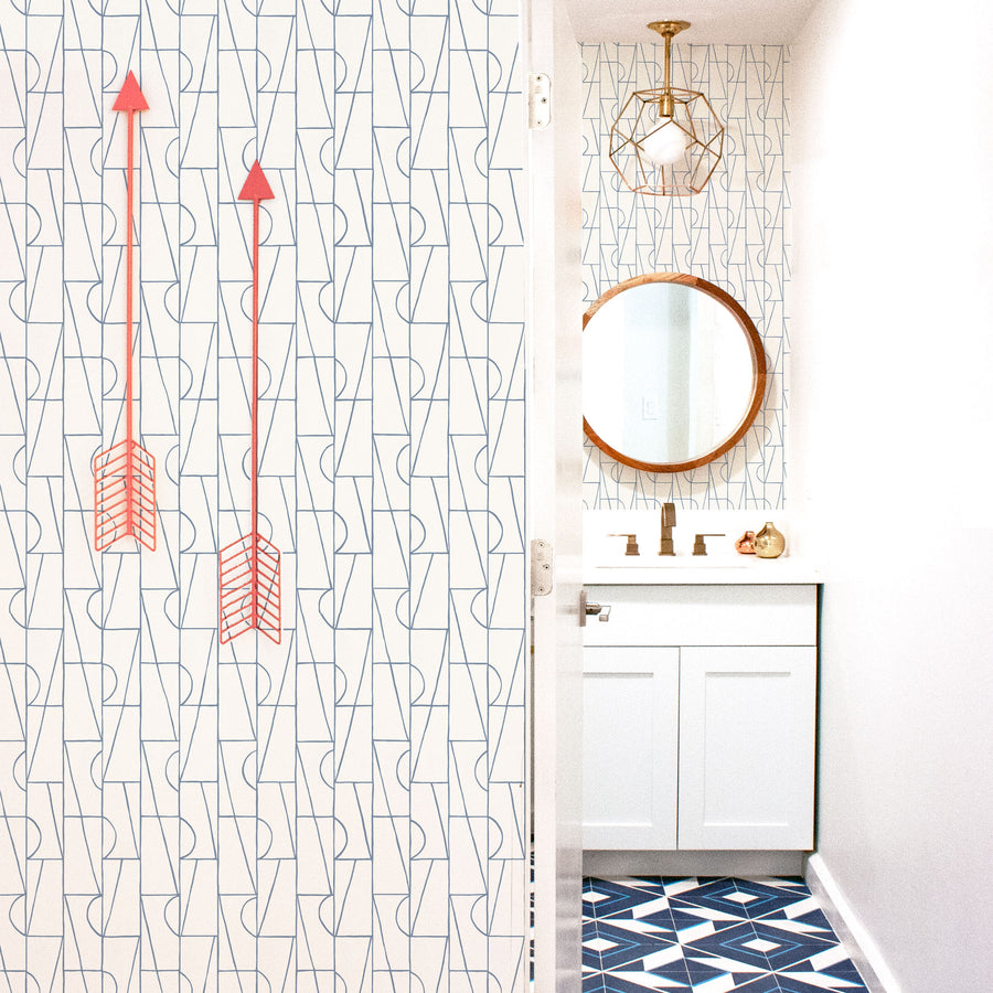 Habita contemporary wallpaper - Copa pattern - Lake color