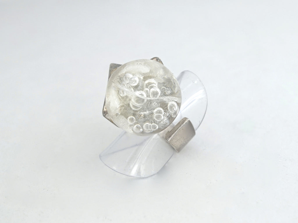 Weckstrom Acrylic And Silver Ring