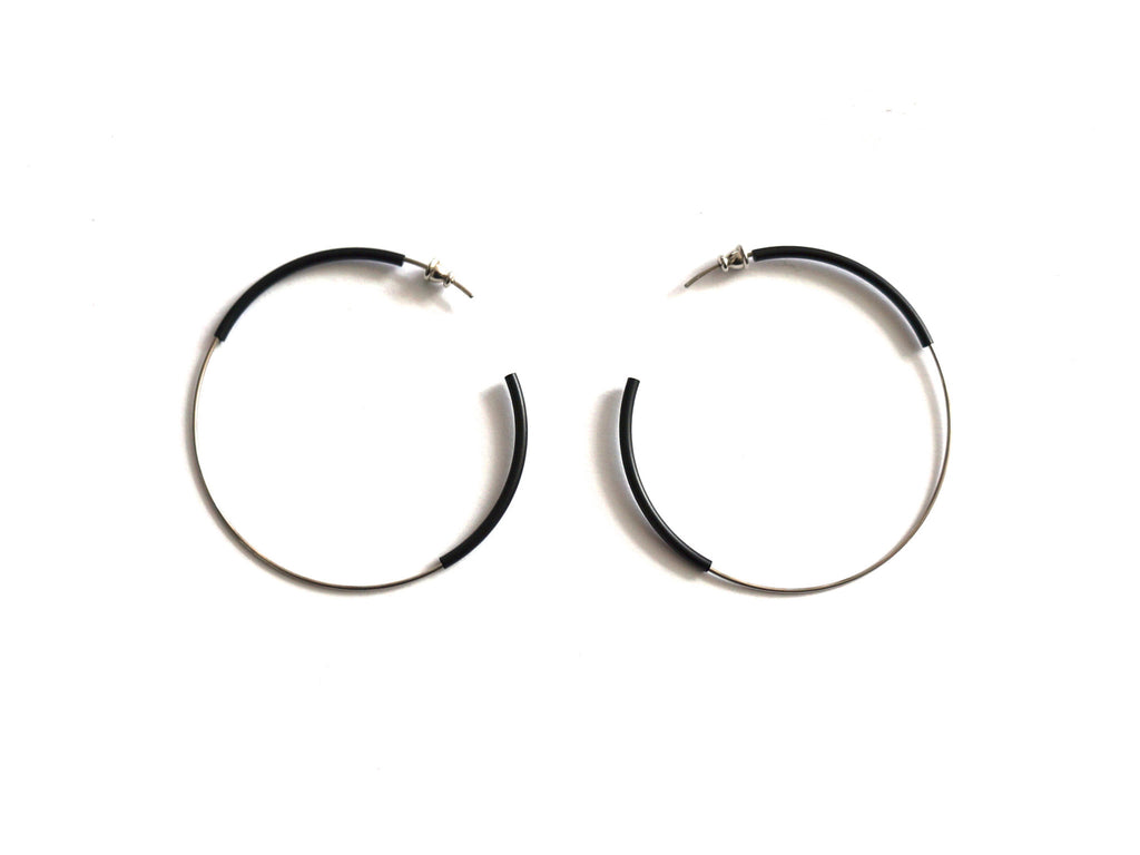 Steel And Aluminium Earrings