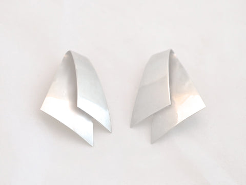 Georg Jensen Clip on Silver Earrings