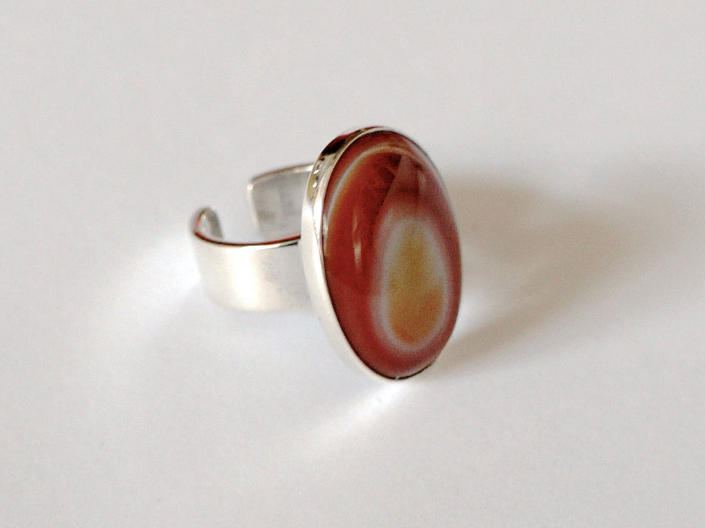 Georg Jensen Silver Ring with agate.