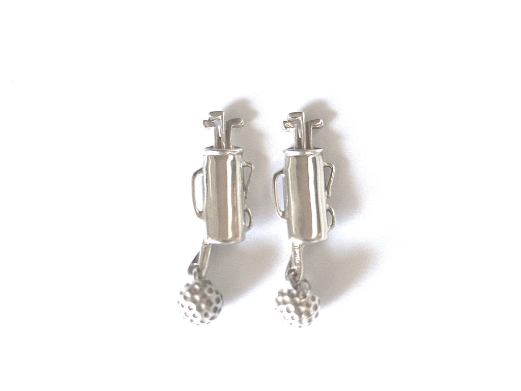 Tiffany Silver Golf Cufflinks