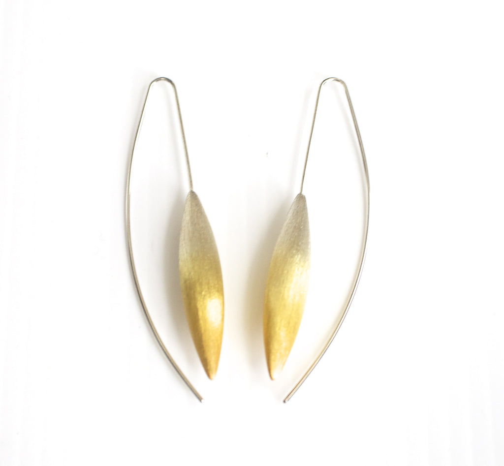 Silver Partly Gilded Earrings