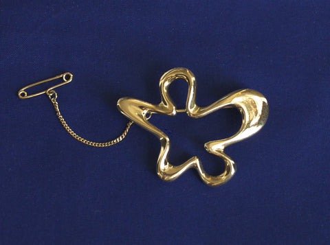 Georg Jensen Gold Brooch