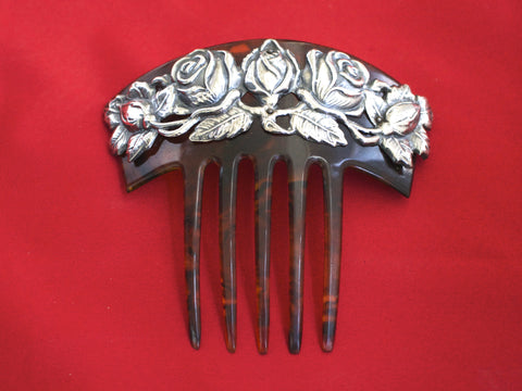 Tortoise And Silver Hair Comb
