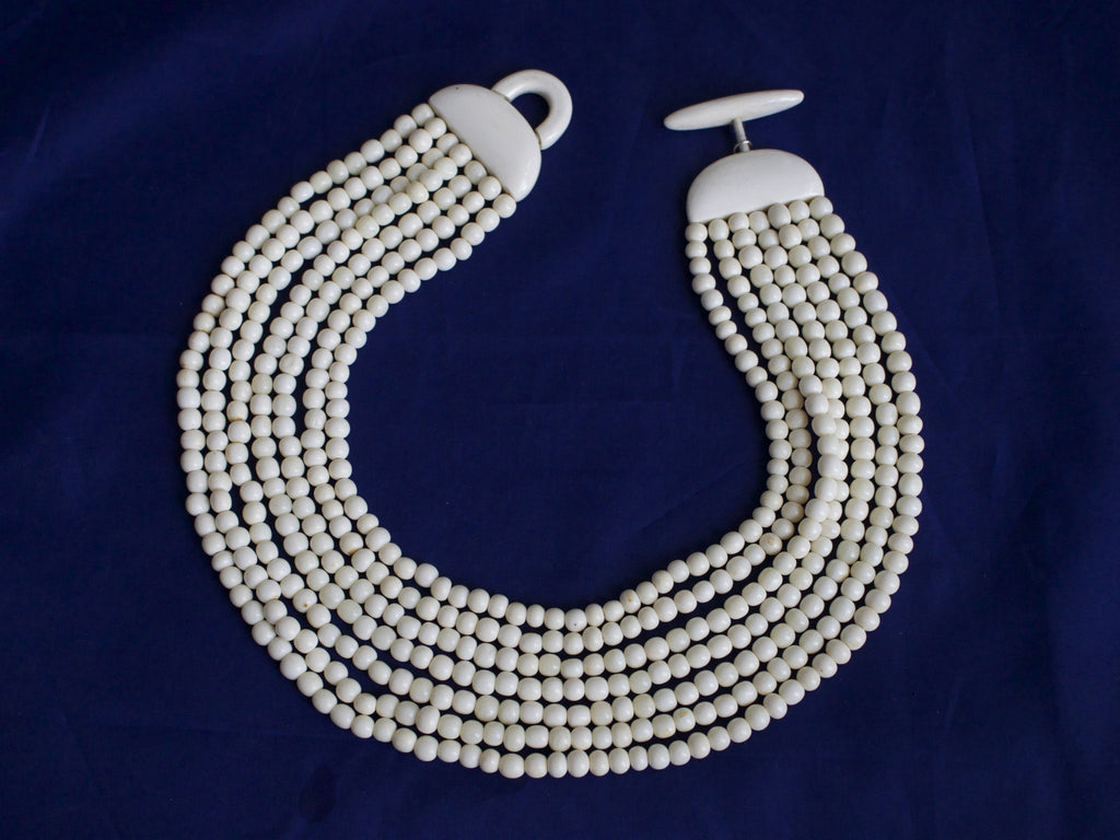 Monies white bone necklace SALE