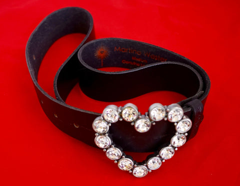 Belt with  crystal clasp