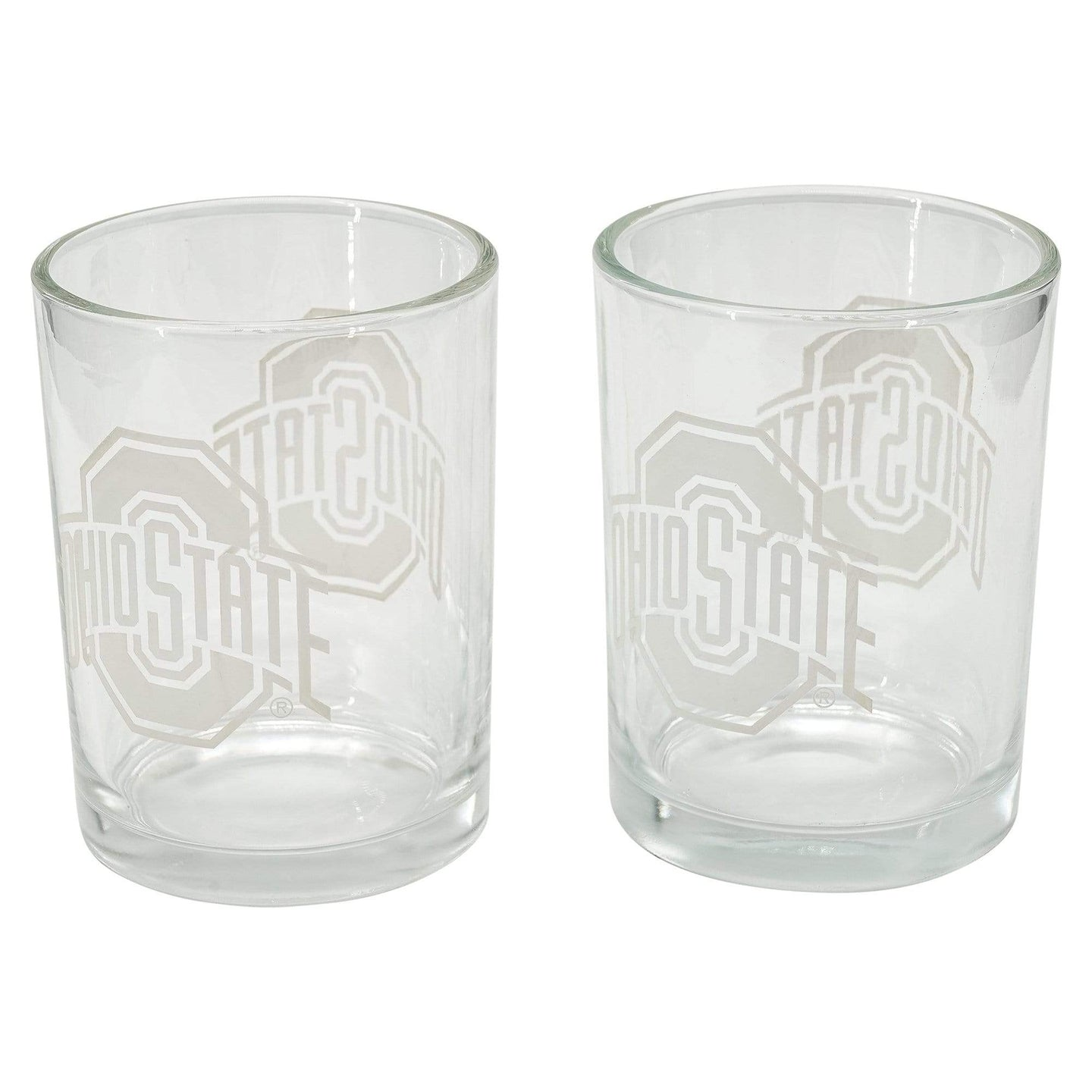 10 oz Frosted Athletic O Rocks Glasses - 2 Pack - Conrads College Gifts
