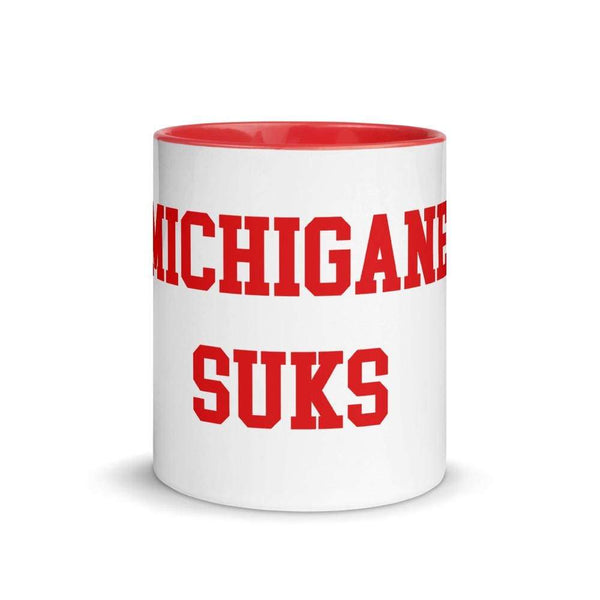 "11 oz. French ""Michigan Sucks"" Ceramic Mug - Conrads College Gifts"