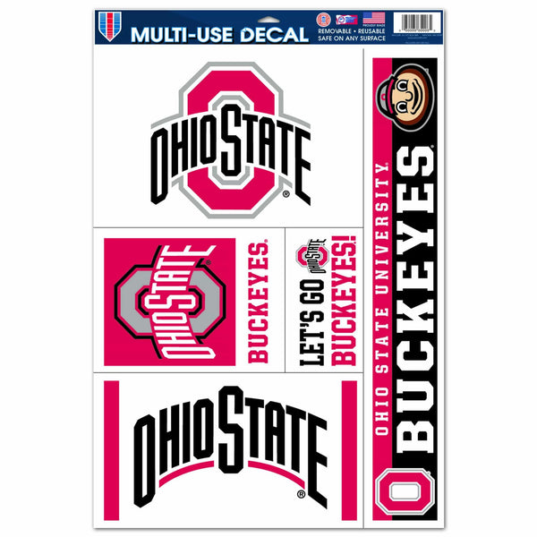 Ohio State Buckeyes Block O Athletic O Decal Sheet of 5