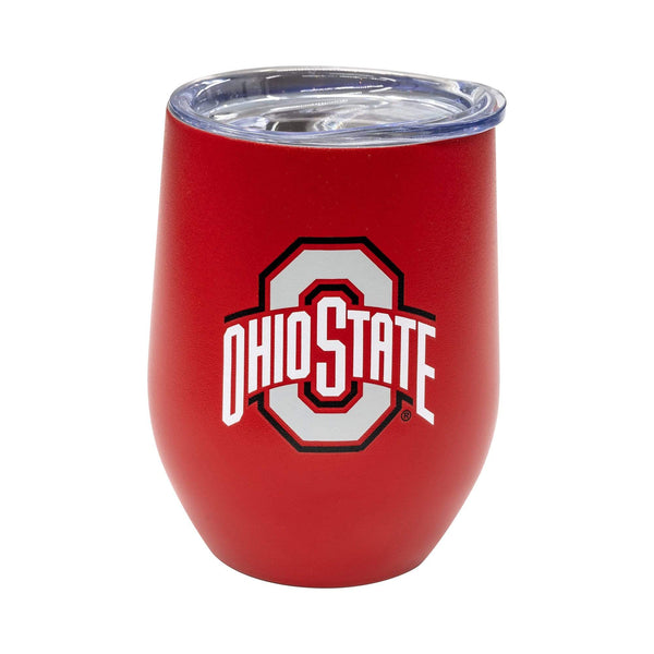 14 oz Ohio State Red Stainless Steel Wine Tumbler