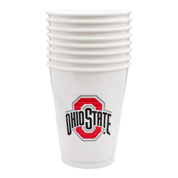 16 oz Ohio State Athletic O Party Cups - 8 Pack