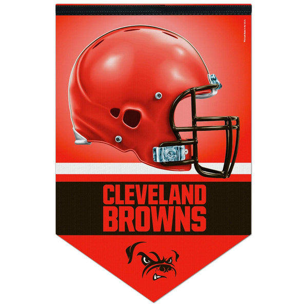 "17"" x 25"" Cleveland Browns Orange Helmet Logo Banner"