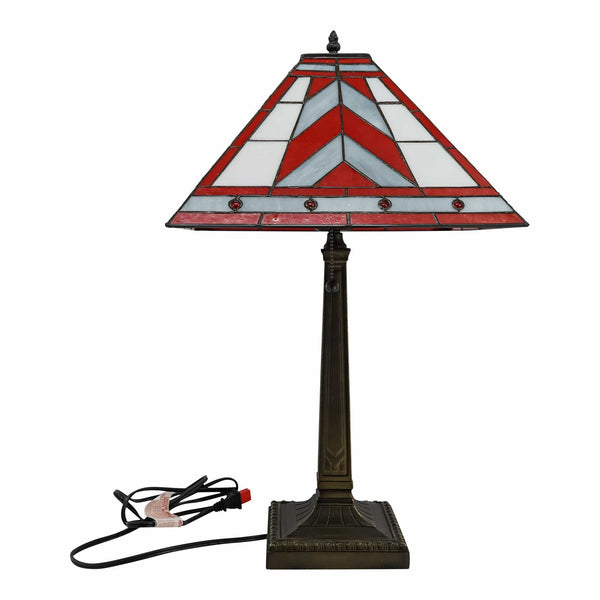 "22"" Ohio State Mission Stained Glass Lamp - Conrads College Gifts"