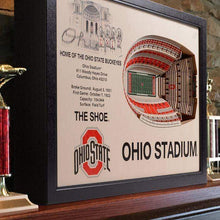 Load image into Gallery viewer, 25 Layer Ohio Stadium 3D Cut Out Picture - Conrads College Gifts
