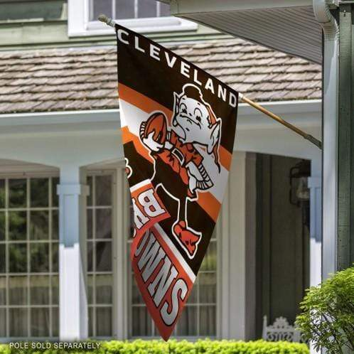 "28"" x 40"" Cleveland Browns Vertical Flag - Conrads College Gifts"