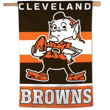 "Load image into Gallery viewer, 28"" x 40"" Cleveland Browns Vertical Flag - Conrads College Gifts"