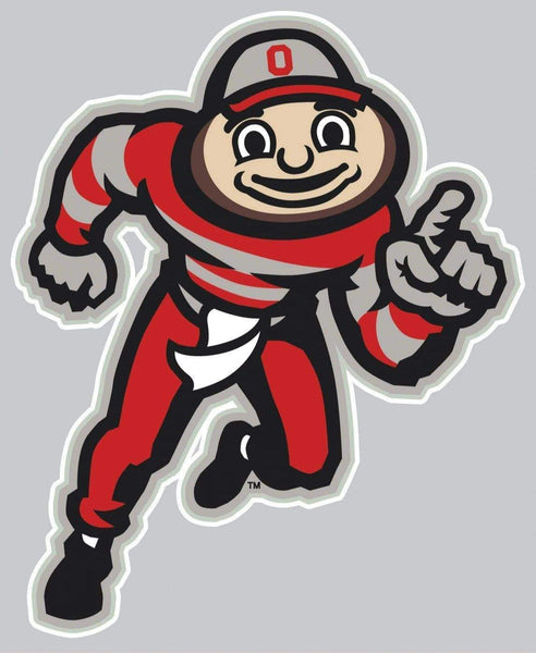 "3 1/2"" x 4 3/8"" Ohio State Buckeyes Running Brutus Decal - Conrads College Gifts"