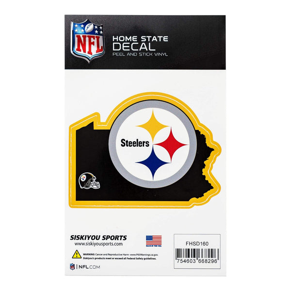 "4 3/4"" x 3 5/8"" Pittsburgh Steelers Home State Decal"