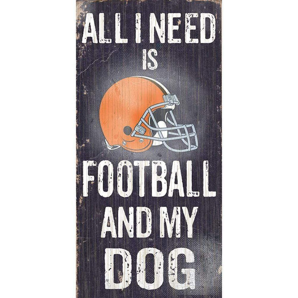 "Cleveland Browns 12""x6"" All I Need Wooden Sign - Conrads College Gifts"