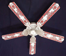 "Load image into Gallery viewer, 52"" Cincinnati Reds Baseball Ceiling Fan - Conrads College Gifts"