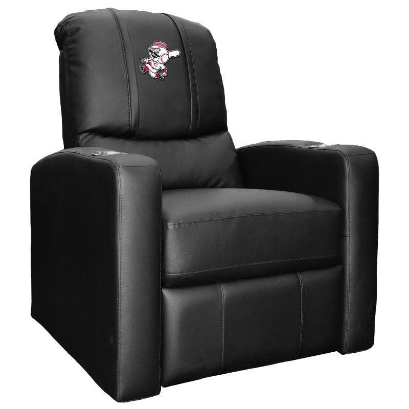 Black Cincinnati Reds Stealth Recliner with Alternate Logo - Conrads College Gifts