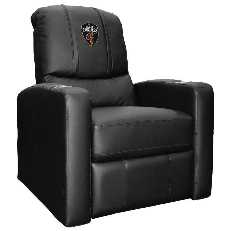 Black Cleveland Cavaliers Stealth Recliner with The Shield Logo - Conrads College Gifts