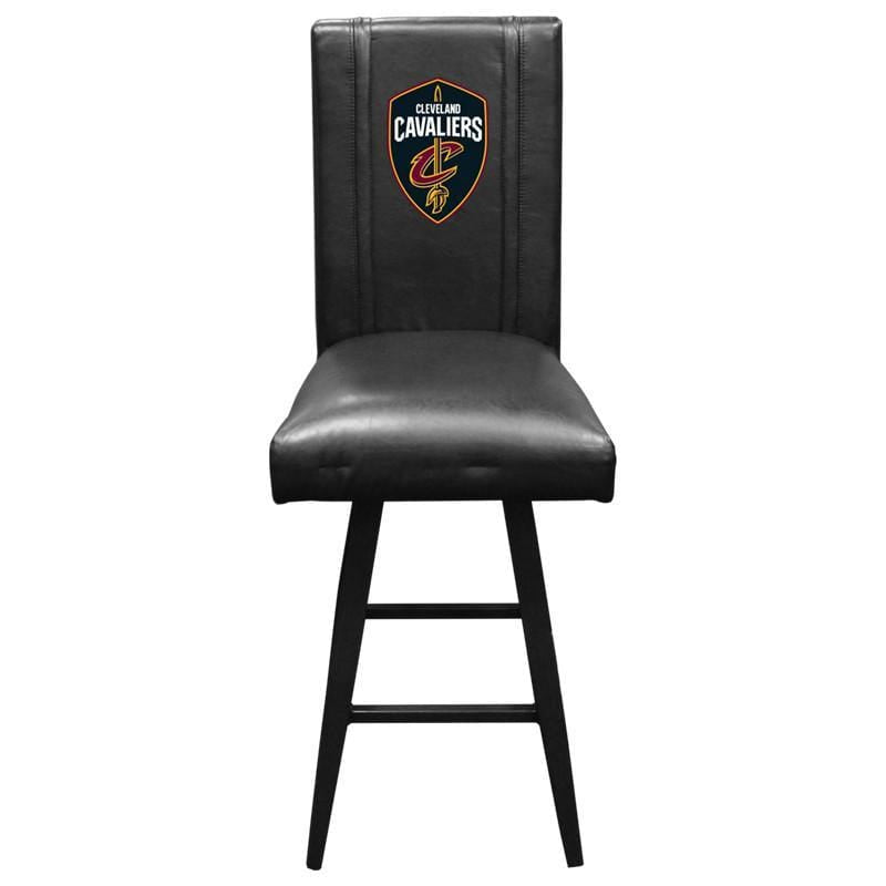 Black Cleveland Cavaliers Swivel Bar Stool 2000 with The Shield Logo - Conrads College Gifts