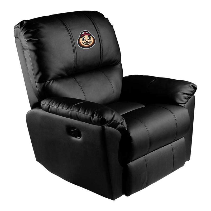 Black Ohio State Buckeyes Rocker Recliner with Brutus Logo - Conrads College Gifts