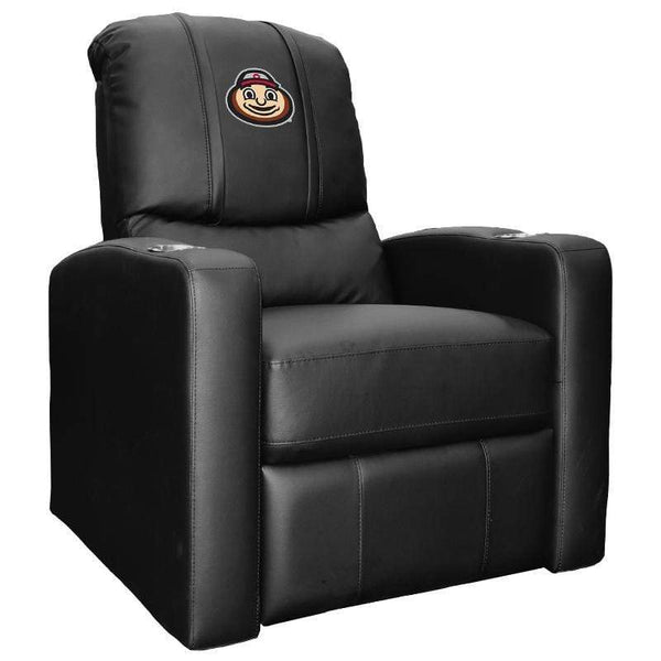 Black Ohio State Buckeyes Stealth Recliner with Brutus Logo - Conrads College Gifts