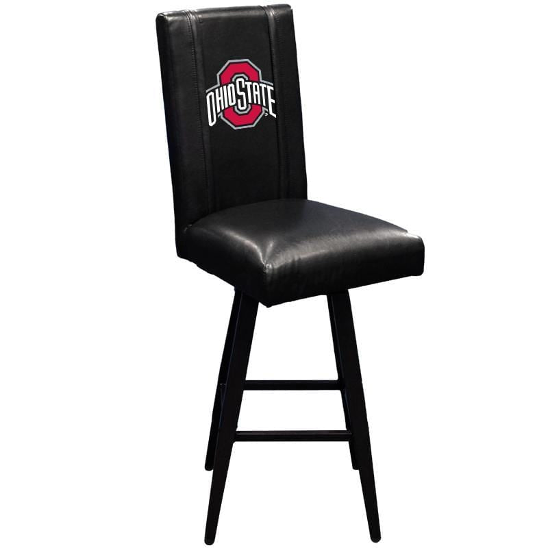 Black Ohio State Buckeyes Swivel Bar Stool 2000 with Athletic O Logo - Conrads College Gifts