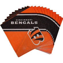 Load image into Gallery viewer, Cincinnati Bengals Dinner Napkins - 20 Pack - Conrads College Gifts
