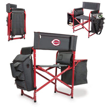 Load image into Gallery viewer, Cincinnati Reds Fusion Backpack Chair with Cooler (Dark Gray with Red Accents) - Conrads College Gifts