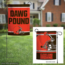 Load image into Gallery viewer, Cleveland Browns Double Sided Garden Flag