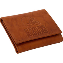 Load image into Gallery viewer, Cleveland Browns Embossed Leather Trifold Wallet - Conrads College Gifts