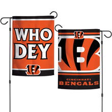 Load image into Gallery viewer, Two Sided Cincinnati Bengals Garden Flag - Conrads College Gifts