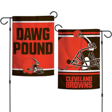 Load image into Gallery viewer, Two-Sided Cleveland Browns Garden Flag - Conrads College Gifts