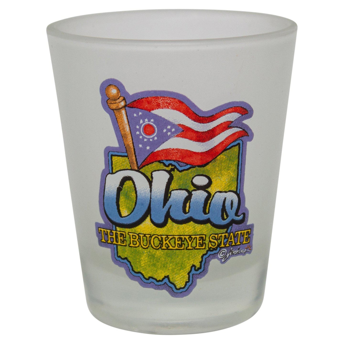 Frosted Ohio Shot Glass - Conrads College Gifts