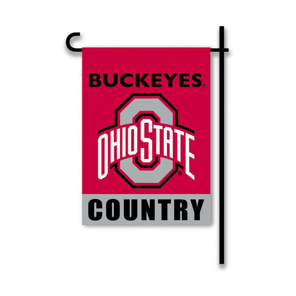 "Ohio State 13"" x 18"" Red Buckeyes Country Garden Flag"