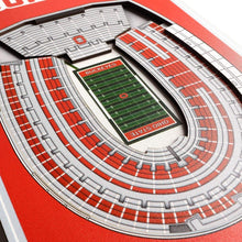 "Load image into Gallery viewer, Ohio State Buckeyes 8""x 32"" 3D Stadium Banner - Conrads College Gifts"