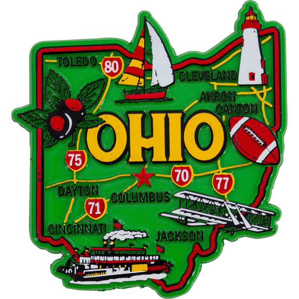 Ohio State Buckeyes Map Fridge Magnet - Conrads College Gifts