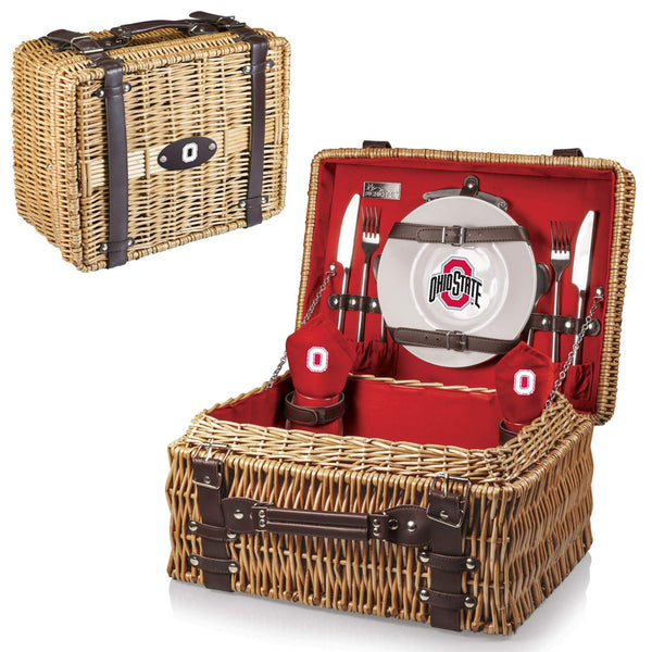 Ohio State Buckeyes Picnic Basket (Red) - Conrads College Gifts