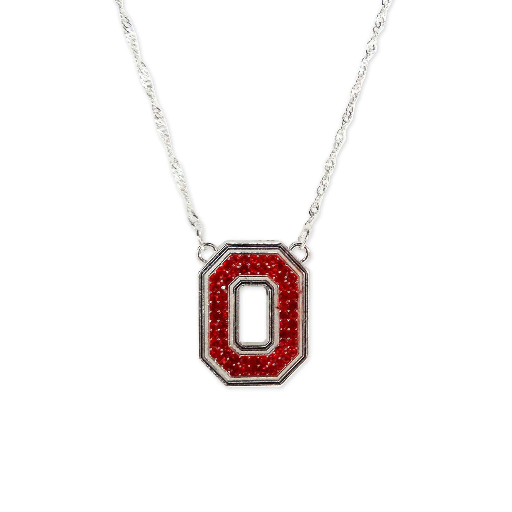 Ohio State Crystal Block O Necklace - Conrads College Gifts