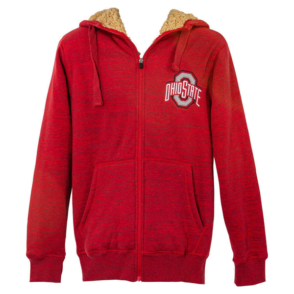 Ohio State Faux Fur Zip-Up Hooded Sweatshirt - Conrads College Gifts