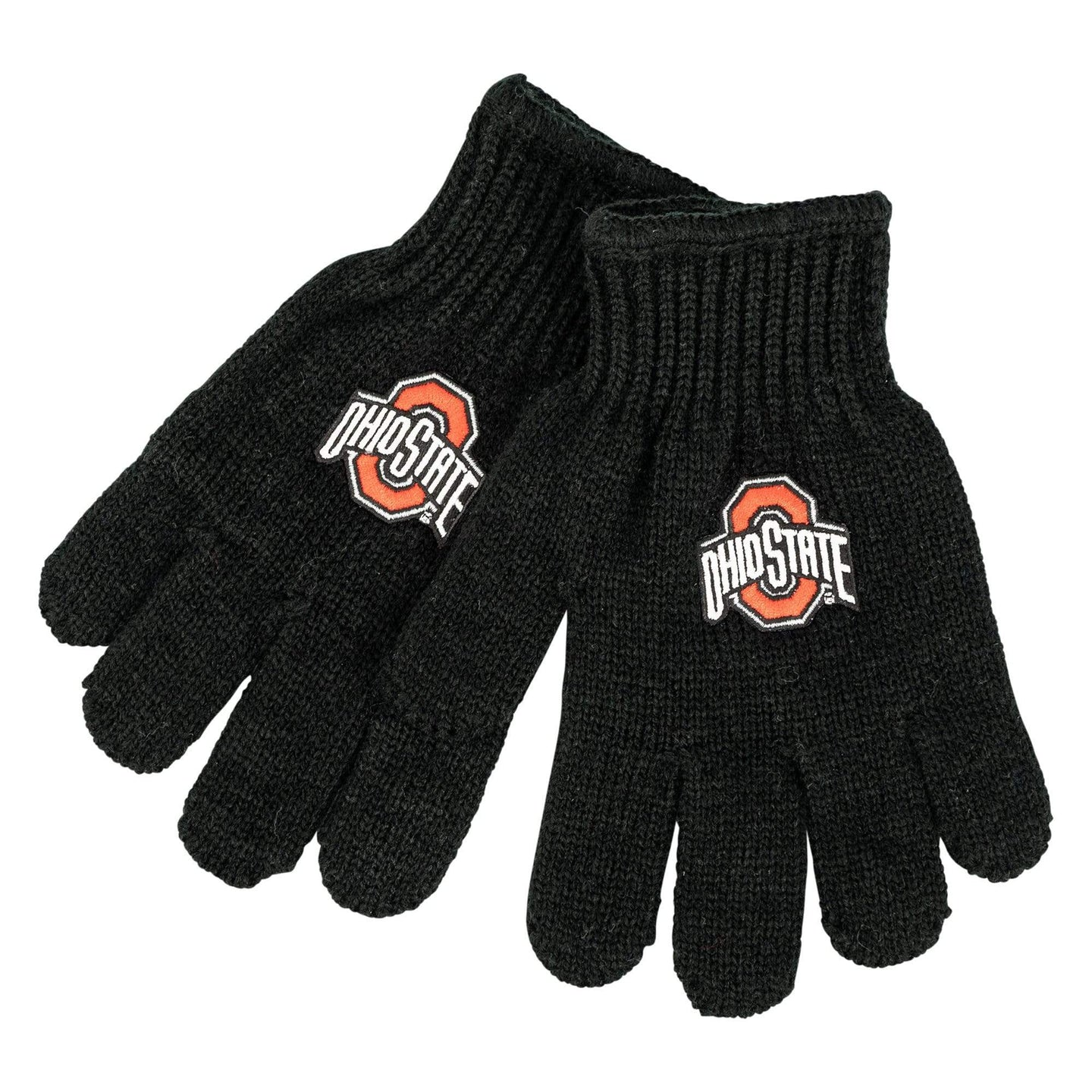 Ohio State Kid's Black Knit Gloves